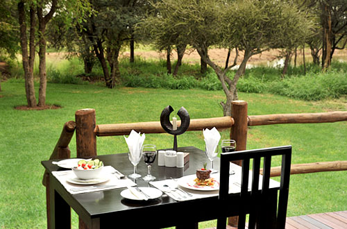 Breakfast Deck Black Rhino Game Lodge Accommodation Bookings Pilanesberg Game Park Black Rhino Private Game Reserve