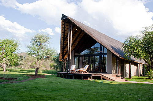 Pilanesberg Chalet Deck Buffalo Thorn Lodge Exclusive Use Self-catering Lodge Pilanesberg Game Park Black Rhino Private Game Reserve