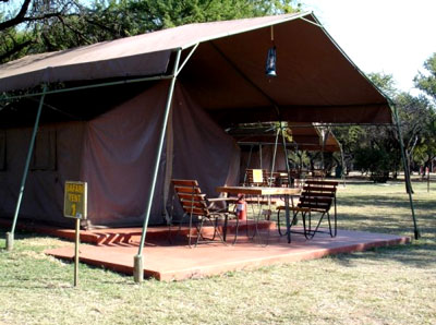 Outside view Exclusive Safari Tents Manyane Resort Accommodation Bookings Pilanesberg Game Park Luxury Accommodation