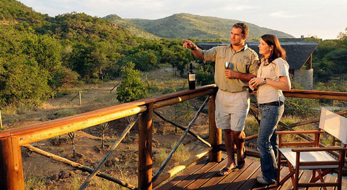 Main Lodge Deck Pilanesberg Private Lodge Pilanesberg Game Reserve Accommodation BookingsLuxury Accommodation